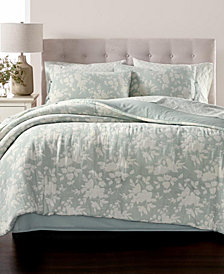 CLOSEOUT! Martha Stewart Collection Floral Silhouette 180-Thread Count 8-Pc. California King Comforter Set, Created for Macy's