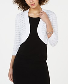 Jessica Howard Petite Pointelle Shrug