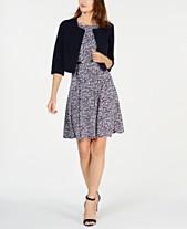 623e06bbb4 Jessica Howard Petite 3 4-Sleeve Jacket   Belted Fit   Flare Dress