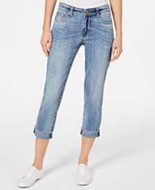 Kut from the Kloth Amy Crop Straight Leg - Roll Up Fray
