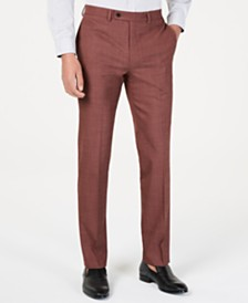 Calvin Klein Men's Slim-Fit Stretch Solid Suit Pants