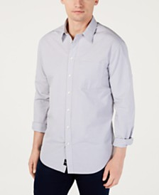 DKNY Men's Dobby Print Shirt, Created for Macys