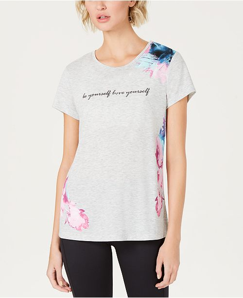 Ideology Graphic Keyhole T-Shirt, Created for Macy's