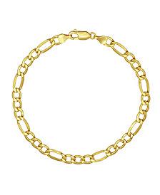"Figaro Link 8.5"" Bracelet (4.93mm) in 18k Gold"