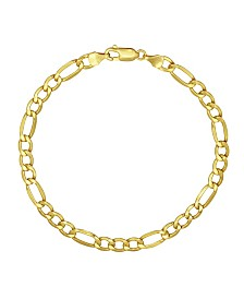 "Figaro Link 8.5"" Bracelet (4.93mm) in 18k Gold"