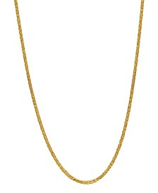 """Wheat Link 20"""" Chain Necklace (1.3mm) in 18k Gold"""