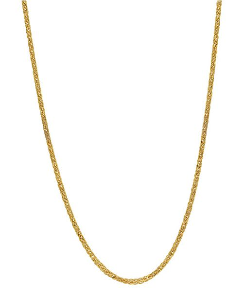 "Macy's Wheat Link 20"" Chain Necklace (1.3mm) in 18k Gold"