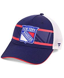Authentic NHL Headwear New York Rangers 2nd Season Trucker Adjustable Snapback Cap