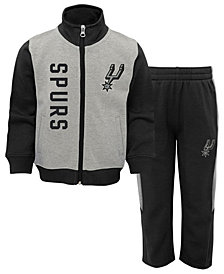 Outerstuff San Antonio Spurs On the Line Pant Set, Toddler Boys (2T-4T)