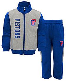 Outerstuff Detroit Pistons On the Line Pant Set, Toddler Boys (2T-4T)