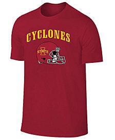 Retro Brand Men's Iowa State Cyclones Football Helmet T-Shirt