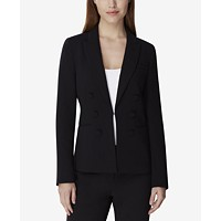 Tahari ASL Peak-Lapel Double-Breasted Blazer