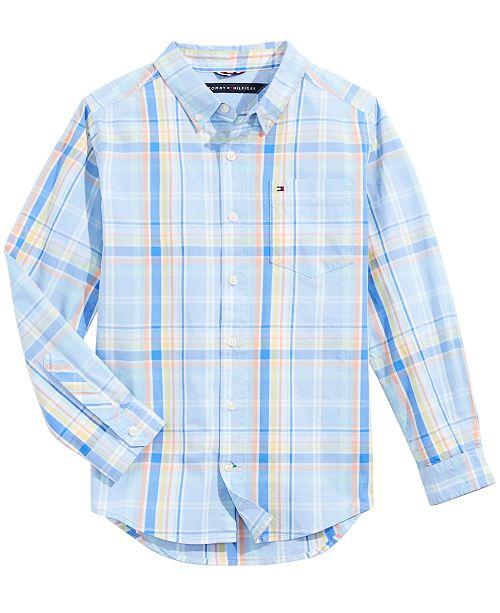 44c830792bbd1 Tommy Hilfiger Big Boys Bentley Plaid Shirt   Reviews - Shirts ...