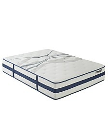 "Broyhill 11"" Queen Earl Sapphire Cooling Gel Memory Foam Hybrid Innerspring Firm Mattress"