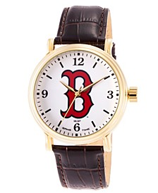 Gametime MLB Boston Red Sox Men's Shiny Gold Vintage Alloy Watch