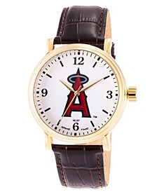 Gametime MLB Los Angeles Angels Men's Shiny Gold Vintage Alloy Watch