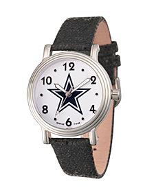 Gametime NFL Dallas Cowboys Women's Silver Vintage Alloy Watch