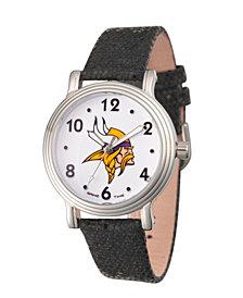 Gametime NFL Minnesota Vikings Women's Silver Vintage Alloy Watch