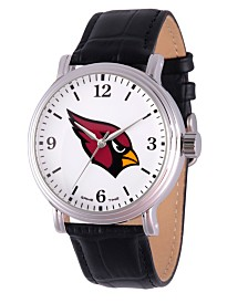 Gametime NFL Arizona Cardinals Men's Shiny Silver Vintage Alloy Watch