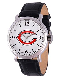 Gametime NFL Chicago Bears Men's Shiny Silver Vintage Alloy Watch