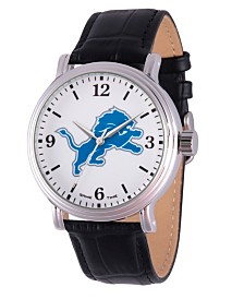 Gametime NFL Detroit Lions Men's Shiny Silver Vintage Alloy Watch