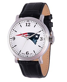 Gametime NFL New England Patriots Men's Shiny Silver Vintage Alloy Watch
