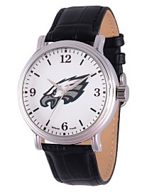 Gametime NFL Philadelphia Eagles Men's Shiny Silver Vintage Alloy Watch