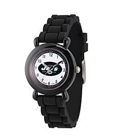 Gametime NFL New York Jets Kids' Black Plastic Time Teacher Watch