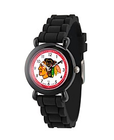 Gametime NHL Chicago Blackhawks Kids' Black Plastic Time Teacher Watch