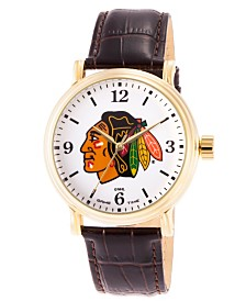 Gametime NHL Chicago Blackhawks Men's Shiny Gold Vintage Alloy Watch