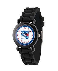 Gametime NHL New York Rangers Kids' Black Plastic Time Teacher Watch