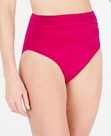 Lauren Ralph Lauren High-Waist Tummy-Control Bikini Bottoms