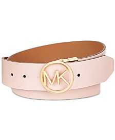 MICHAEL Michael Kors Reversible MK Logo Buckle Belt
