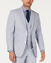 a82e33e6afe Tommy Hilfiger Men s Modern-Fit THFlex Stretch Light Gray Chambray Suit  Jacket