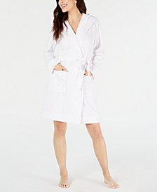 Knit Terry Cloth Hooded Robe, Created for Macy's