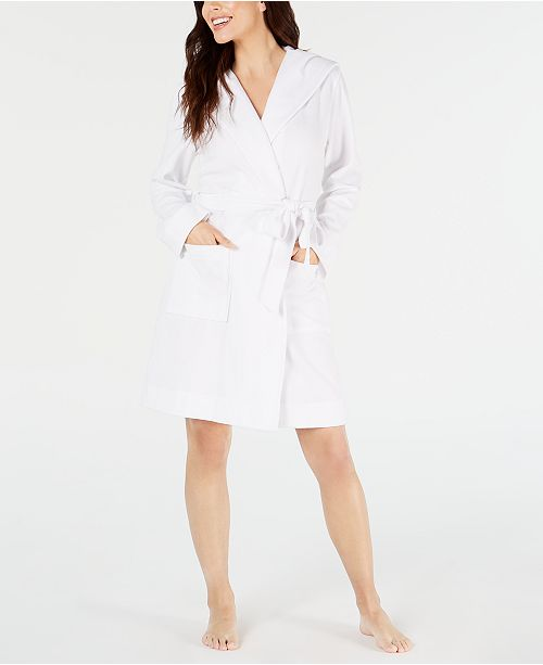 Charter Club Knit Terry Cloth Hooded Robe, Created for Macy's