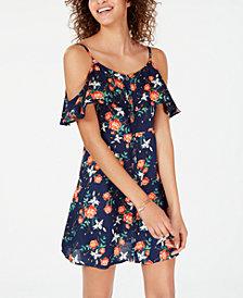 Roxy Juniors' Hot Spring Streets Cold-Shoulder Dress