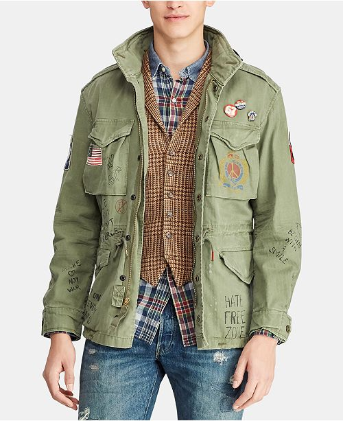 eec336bf04fa9 Polo Ralph Lauren Men's Twill Graphic Field Jacket & Reviews ...
