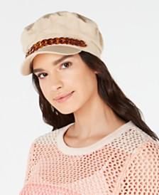 I.N.C. Cotton Tortoise-Look Chain Newsboy Cap, Created for Macy's