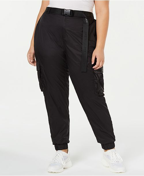 Lala Anthony La La Anthony Trendy Plus Size Belted Parachute Pants