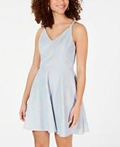 0ca05232e39 Speechless Juniors  Diamond-Back Lace Fit   Flare Dress