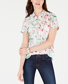 Tommy Hilfiger Floral-Print Cotton Top, Created for Macy's