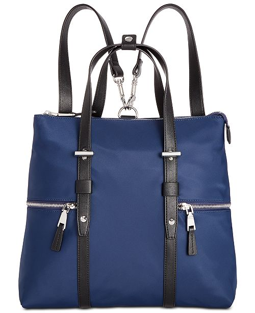 INC International Concepts I.N.C. Haili Nylon Convertible Backpack, Created for Macy's