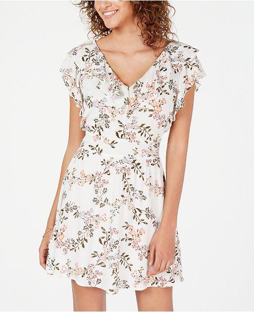 American Rag Juniors' Printed Ruffle-Trimmed Dress, Created for Macy's
