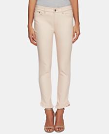 CeCe Frayed Ruffled-Hem Jeans