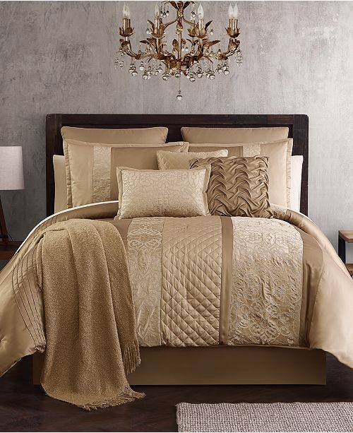 Hallmart Collectibles Malika 200-Thread Count 14-Pc. Comforter Sets, Created for Macy's