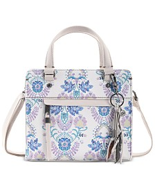 The Sak Alameda Floral Crossbody Satchel
