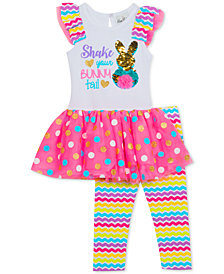 Rare Editions Baby Girls 2-Pc. Tutu Tunic & Printed Leggings Set