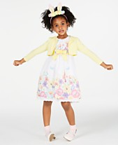 Blueberi Boulevard Toddler Girls 2 Pc Cardigan Floral Print Dress Set