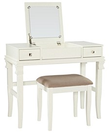 Angela Vanity Set with Bench and Mirror